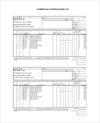 example commercial invoice excel invoice microsoft excel xls free fedex commercial