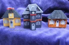 Halloween Cake Walk Printables Free Printable Micro Mansard Halloween Glitter Houses