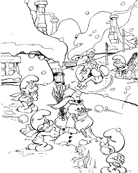 drawn heroes smurfs coloring pages coloring