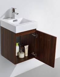 Modern Walnut Bathroom Vanity by Bliss 16