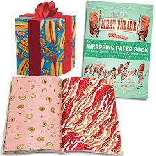 themed wrapping paper stupid meat parade wrapping paper booklet