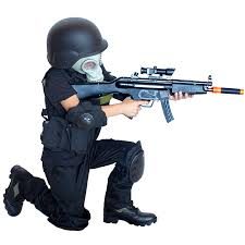 Halloween Costumes Army Kids Army Swat Raid Costume Gas Mask Kids Army
