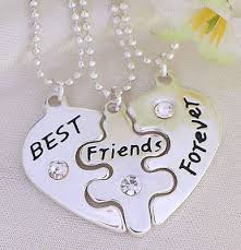 friendship heart 3 part best friends forever heart pendent friendship