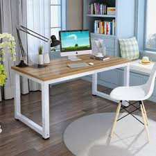 Simple Wooden Office Tables Amazon Com Tribesigns Computer Desk 47