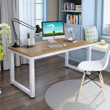 Walnut Computer Desks For Home Amazon Com Tribesigns Computer Desk 47