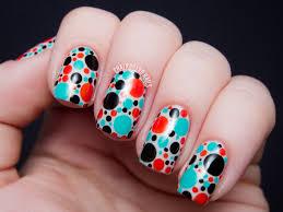31dc2013 day 11 punchy dots chalkboard nails nail art blog
