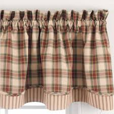 shaped and layered valances country style curtains