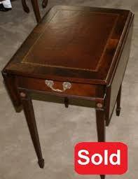 leather top side table antique tables mahogany tables pembroke tables and game tables