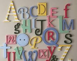 Abc Nursery Decor Wooden Letters For Nursery Abc Sign Alphabet Letters Set
