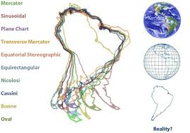 what is a map projection what does south america look like south america in 10 different