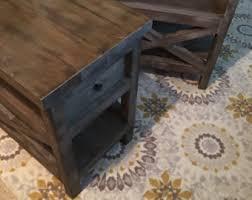 end table side table pallet reclaim wood nightstand