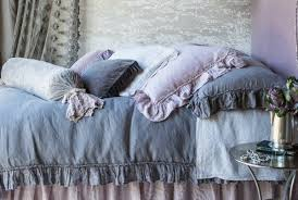 Grey Linen Bedding - bella blog bella notte linens