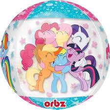 my pony balloons my pony clear orbz foil balloons 15 38cm w x 16 40cm h g40