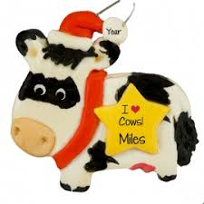 cow ornaments gifts personalized ornaments for you