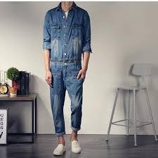 mens one jumpsuit style mens fashion vintage slim sleeve denim jumpsuit