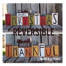 Wood Craft Ideas For Christmas Gifts by Fall Wood Block Set Fall Rustic Signs By Coastalcraftymama On Etsy