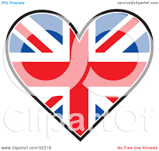 clipart irish flag with a red heart in the center royalty free