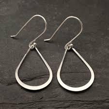 silver teardrop earrings silver drop earrings sterling silver teardrop earrings silver