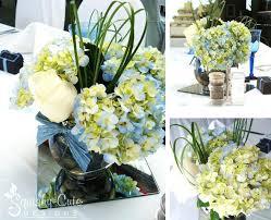hydrangea centerpiece blue hydrangea centerpiece ideas blue and white hydrangea wedding