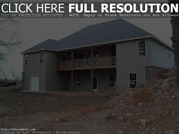 House Plans With Walk Out Basements by Backyard House Plans With Walkout Basement Daylight Contemporary
