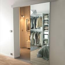 porte de chambre castorama porte coulissante miroir reflecto 83 cm système en applique kidal
