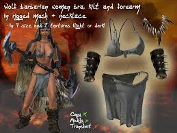 Forearm Wolf - second marketplace bra kilt and forearms wolf barbarian
