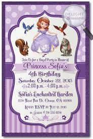 sofia the first birthday invitations di 286 harrison greetings