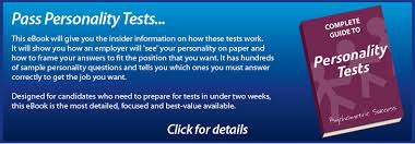 job interview personality questions personality test eliminate the negative