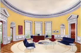 Oval Office Drapes by The Oval Office Of The President Ida York Design Group Inc