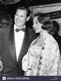 Desiging Women Aug 1 1957 Jeanne Crain With Husband Paul Frederick Stock