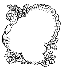 thanksgiving border clipart in black and white 101 clip