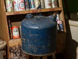 John Deere Home Decor Vintage Gas Can Large Blue Rustic Gas Can Primitive Wooden