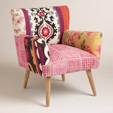 Printed Chairs Living Room by Mixed Print Etta Chair Vintage Inspired Feminine And Bohemian