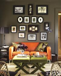 Living Room With Orange Sofa Orange Sofa Contemporary Living Room Decor