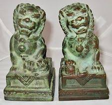green foo dogs foo dog green antique figurines statues ebay