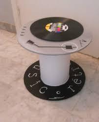 touret bois deco petit touret trompe l u0027oeil tourne disques relooké par meubles à