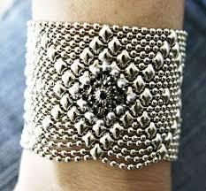mesh bracelet swarovski images Sg liquid metal silver mesh cuff bracelet black swarovski crystal jpg