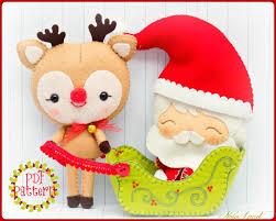 pdf pattern santa claus rudolph reindeer santa u0027s