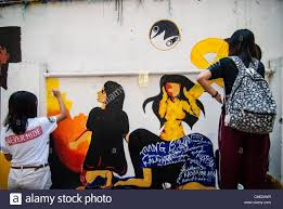 20 best collection of filipino wall art wall art ideas filipino students paint a mural depicting the philippine pertaining to filipino wall art image 8