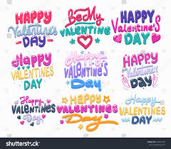 s day decoration happy valentines day card calligraphy stock vector 529961407