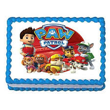 Paw Patrol on tour 1 4 Sheet Edible Frosting Birthday Cake