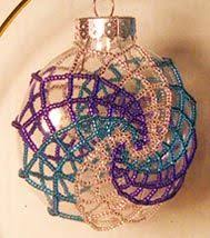 free beaded christmas ornament covers x095 bead pattern only