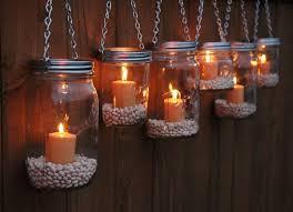 Mason Jar Tea Light Holder Hanging Mason Jar Lantern To Add A Romantic Glow To Your Patio