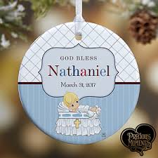 personalized christening ornaments precious moments