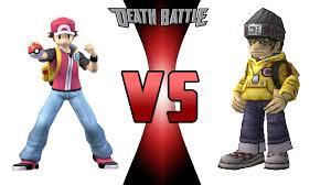 Pokemon Trainer Red Meme - pokemon trainer red vs digimon tamer hiro by keyblademagicdan on