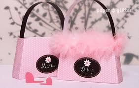 paper purse favor box paris pink ooh la la printable and paper