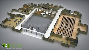 3d architectural floor plans commercial 3d floor plan design yantram architectural design