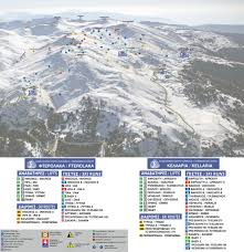 Montana Ski Resorts Map by Parnassos Piste Map Parnassos Ski Resort Greece