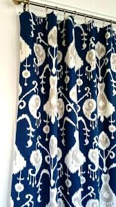Navy Patterned Curtains Blue Ikat Curtains Curtains Navy Blue Designs Patterned Blue Ikat