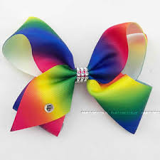 hair bow large hair bow rainbow bows kids accessories